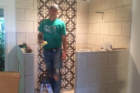 Blaine Sr Curb Appeal Construction Bathroom Remodel Walk in Shower