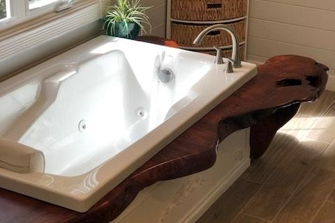 Burl Top Jacuzi Tub Bathroom Remodel Curb Appeal Construction