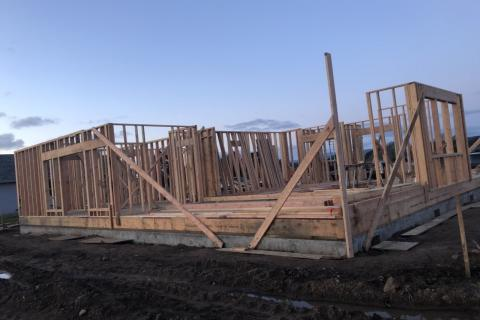Curb Appeal Construction New House Construction Framing walls