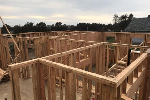 Curb Appeal Construction New House Construction Framing walls up