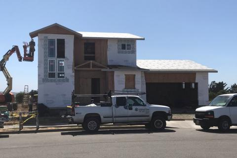 Curb Appeal Construction New House Construction Sheeting and moister barrier