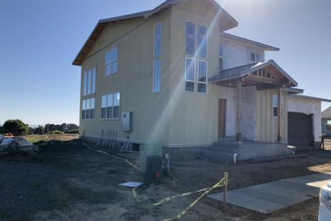 Curb Appeal Construction New House Construction Siding and Windows
