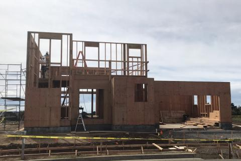 Curb Appeal Construction New House Construction Wall sheeting