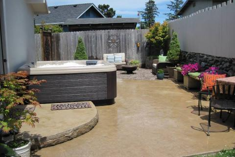 Decorative Concrete Patio Curb Appeal Construction