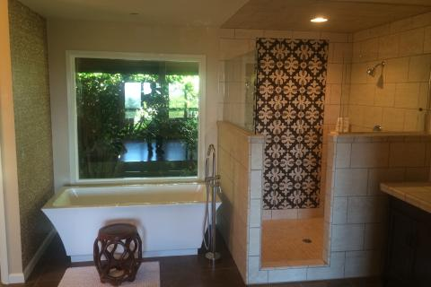 Full Bathroom Remodel Added on Suite to Master Bathroom Curb Appeal Construction Eureka Ca