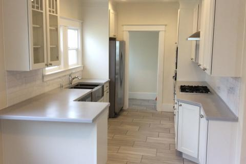 Galley Kitchen White Shaker Remodel Curb Appeal Construction