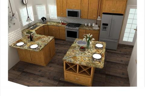 Kitchen Plans Curb Appeal Construction Photo
