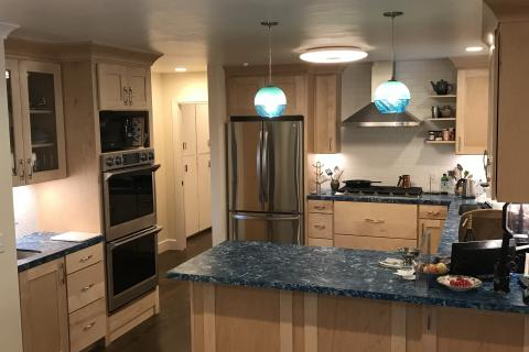 Remodel Kitchen Shaker Hardwood Cabinets Sub Way Tile Curb Appeal Construction Eureka Ca