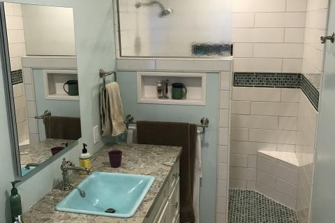 Walk In Shower Remodel Curb Appeal Construction Eureka Ca